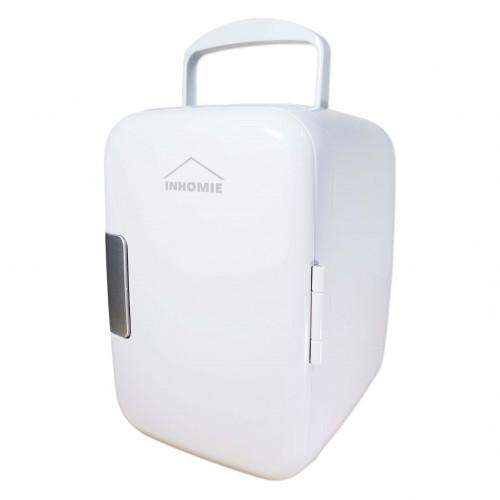 INHOMIE 4L 升級版冷暖兩用迷你小雪櫃 - 白色   可車載或家用   極凍低至4度   香港行貨代理半年保養