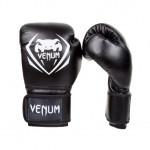 Venum CONTENDER 專業成人泰拳拳套 - 10oz 黑白