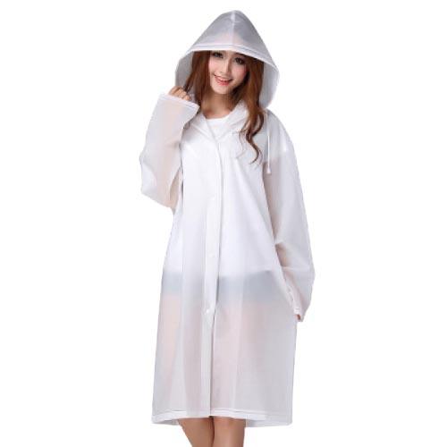 韓款加厚EVA磨砂成人雨衣 | 防水衣 - 白色