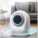 MEET 2代智能全自動清潔貓砂盆 | Wifi APP遠程控制 | 智能自動鏟屎機 | 電動智能貓廁所 - 灰色
