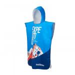 NatureHike 夏季速乾吸濕沙灘浴袍 (NH19SP002) | 防曬斗篷沙灘浴巾  - 藍色L碼