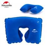 NatureHike 植絨旅行充氣枕頭 (NH15A003-L) | 脖枕U型枕頭頸椎枕頭 - 天藍色
