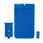 NatureHike FC13 氣袋式超輕雙人充氣墊帶枕頭 (NH19Z013-P) | 戶外帳篷睡墊露營加厚防潮墊 - 藍色
