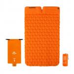 NatureHike FC13 氣袋式超輕雙人充氣墊帶枕頭 (NH19Z013-P) | 戶外帳篷睡墊露營加厚防潮墊 - 橙色
