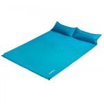 NatureHike 雙人自動充氣睡墊帶枕 (NH18Q010-D) | 戶外露營帳篷氣墊加寬加厚充氣床墊 - 湖水藍色