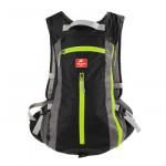 NatureHike 旅行戶外騎行背包 (NH15C001-B) | 男女通用運動雙肩包帶頭盔網罩 - 黑色
