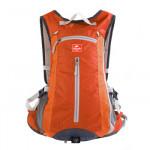 NatureHike 旅行戶外騎行背包 (NH15C001-B) | 男女通用運動雙肩包帶頭盔網罩 - 橙色