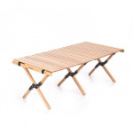 NatureHike 戶外蛋捲摺疊桌 (NH19JJ009) | 便攜式桌子露營實木燒烤野餐桌 - 大
