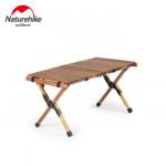 NatureHike 戶外蛋捲摺疊桌 (NH19JJ009) | 便攜式桌子露營實木燒烤野餐桌 - 小
