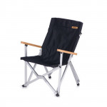 NatureHike 露營便攜摺疊椅 (NH19JJ004) | 野餐燒烤收納椅 戶外釣魚靠背小椅子 - 黑色