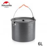 NatureHike 6-8人野營吊鍋 (NH20CJ009) | 便攜6L鋁合金吊鍋 - 6L