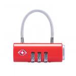 NatureHike TSA通關行李箱密碼鎖 (NH20SJ005) | 托運旅行鎖掛鎖 - 紅色