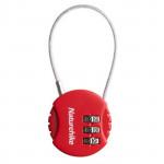 NatureHike 圓形鋼絲密碼鎖 (NH20SJ003) - 紅色