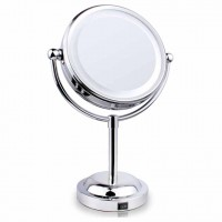 6-inch double-sided LED hotels and the pedestal Mirror | three times a magnifying glass