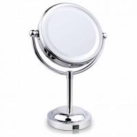 6寸LED酒店式雙面座枱化妝鏡 |三倍放大鏡
