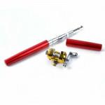 迷你可伸縮金屬鋼筆魚竿 - 紅色 | 5節共長1米