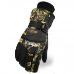 全指防風保暖滑雪手套 | 加厚防潑水 - 黃色大碼