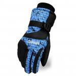 全指防風保暖滑雪手套 | 加厚防潑水 - 藍色