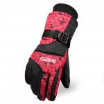 全指防風保暖滑雪手套 | 加厚防潑水 - 紅色