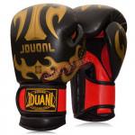 JDUANL 8OZ 成人拳擊手套 | 泰拳拳套 - 黑色