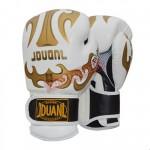 JDUANL 8OZ 成人拳擊手套 | 泰拳拳套 - 白色