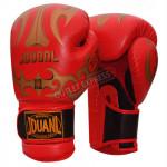 JDUANL 8OZ 成人拳擊手套 | 泰拳拳套 - 紅色