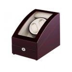 Simplewishes 2+3錶位自動上鍊自轉錶盒 - 木紋白