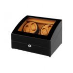 Simplewishes 4+6自動上鍊自轉錶盒 - 外黑內棕