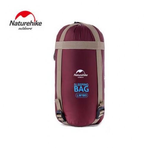 NatureHike LW180 戶外超輕便攜睡袋 | 可拼接雙人睡袋 - 紅色 (NH15S003-D)