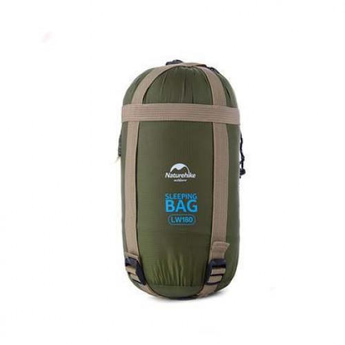 NatureHike LW180 戶外超輕便攜睡袋 | 可拼接雙人睡袋 - 綠色 (NH15S003-D)