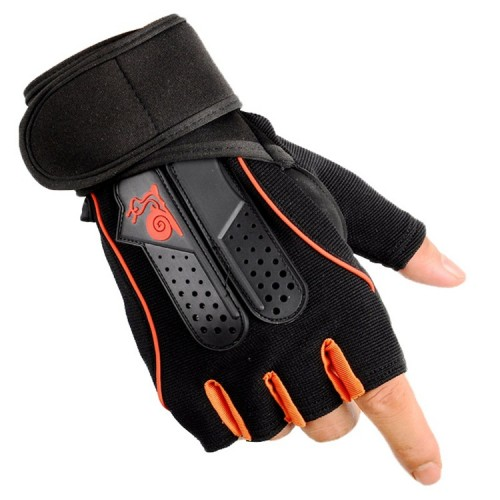 半指健身手套  防滑舉重手套 - 大碼