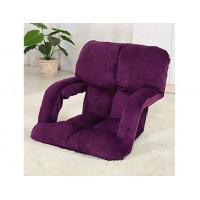 創意多功能懶人梳化折疊椅扶手款 | 榻榻米 - 紫色