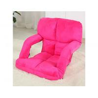 創意多功能懶人梳化折疊椅扶手款 | 榻榻米 - 桃紅色
