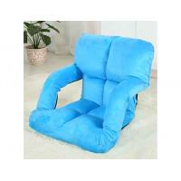 創意多功能懶人梳化折疊椅扶手款 | 榻榻米 - 藍色