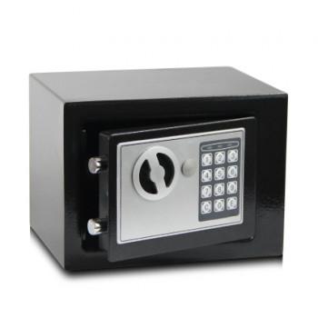 全鋼家用電子密碼夾萬保險箱 - 黑色 | 可入牆