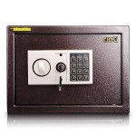 DELI 得力加厚雙層全鋼電子密碼夾萬 | 可入牆保險箱