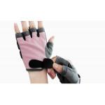 BOER 半指健身手套| 防磨傷健身適用 - 粉紅色中碼