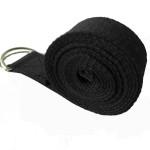 純棉1.8米伸展帶瑜伽繩 | 伸展拉力帶 - 黑色