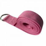 純棉1.8米伸展帶瑜伽繩 | 伸展拉力帶 - 粉紅色