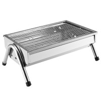 Stainless steel portable charcoal grill with a 3-4 (top version)