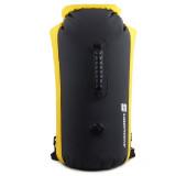 LuckStone 25L 雙肩筒型戶外防水袋 - 黑黃色