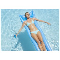 Floating inflatable floating fluorescent drainage bed
