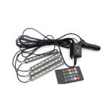 遙控款LED七彩汽車氛圍燈 汽車裝飾神器