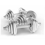 INHOMIE 15KG 組合式可調節電鍍啞鈴 杠鈴 預訂產品