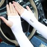 透氣抗UV冰絲防曬手袖 | 夏日冰袖 - 白色