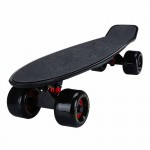 22寸成人磨砂大輪魚仔板 | 代步小魚板滑板 - 黑色