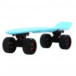 22寸成人磨砂大輪魚仔板 | 代步小魚板滑板 - 藍色