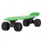 22寸成人磨砂大輪魚仔板 | 代步小魚板滑板 - 綠色