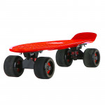 22寸成人磨砂大輪魚仔板 | 代步小魚板滑板 - 紅色