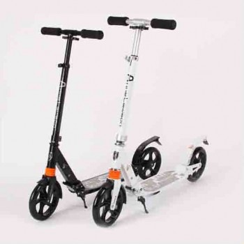 Adult folding aluminum foot scooter | double damping system